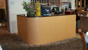 Used Curved Reception Desk Custom Restaurant Cashier Hostess Stations