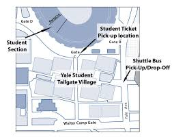 Yale Map Football Tailgating Yale