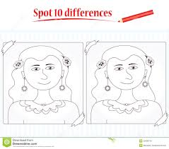 game for kids spot 10 differences royalty free stock images