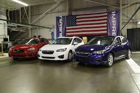 first lexus dealership united states first american made subaru impreza rolls off the line motor trend