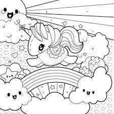 free vector rainbow unicorn scene coloring 28330
