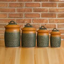 stoneware canister set kitchen storage jars uncommongoods