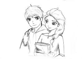 jack and elsa by septyong on deviantart