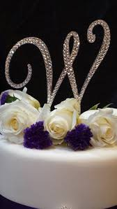 h cake topper 5 initial monogram wedding cake topper swarovski