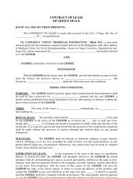 office space lease agreement sample sample oregon sublease
