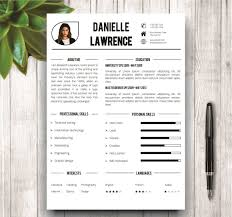 Are There Resume Templates In Microsoft Word Modern Resume Template Resume Templates Creative Market