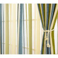 Green And Beige Curtains Chenille Blackout Blue Olive Green Striped Curtains