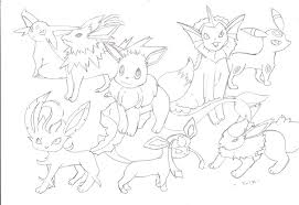 pokemon eevee evolutions coloring pages eevee evolution coloring