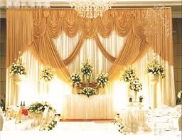 wedding backdrop on stage aliexpress buy 3m h 6m w gold wedding backdrop with