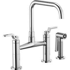 Widespread Kitchen Faucet Brizo 62554lf Pc Litze Chrome Two Handle Widespread Kitchen