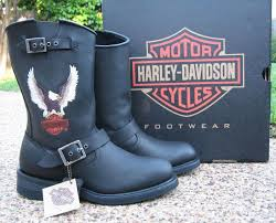 mens harley davidson jerry motorcycle boots black leather d93309