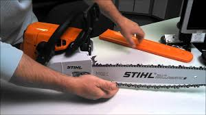 how to properly adjust a chain on a ms250 stihl chainsaw youtube