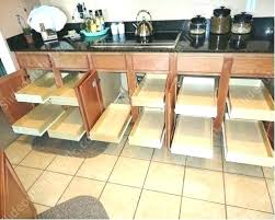 installing pull out drawers in kitchen cabinets sliding drawers for kitchen cabinets idea pantry sliding shelves