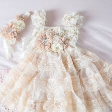 champagne lace flower dress ivory lace baby doll dress