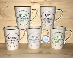 personalized mugs for wedding wedding party mug etsy