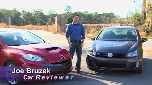mazad car 2010 vw gti and 2010 mazda mazdaspeed3 comparison youtube