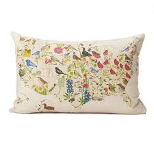 Usa Map State by Birds And Blooms Pillows Us Map Geographic Pillows State Bird