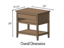 Sofa Table Dimensions Diy Bedside Table With Drawer And Shelf Free Plans