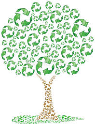 eco recycling tree stock image image 14337411