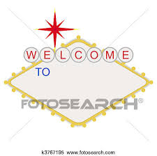 stock illustration of blank welcome to las vegas sign k3767169