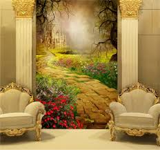 online get cheap castle wall paper aliexpress com alibaba group 3d wallpaper custom mural photo wall paper fairy tale world castle and path