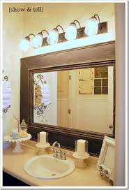 Mirror Trim For Bathroom Mirrors Framed Bathroom Mirrors Also Wood Trim Mirror Wall To Regarding