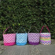 wholesale easter buckets wholesale multi colored chevron easter blank easter basket