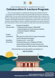 Palawa Ugm Sungkyunkwan Collaborative E Lecture Program News