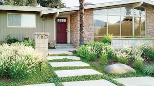 landscaping ideas with stone sunset