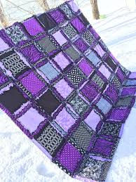 Purple And Zebra Room by Zebra Rag Quilt Bedding Purple U0026 Black Twin To King Sizes