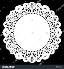 lace doily place mat vintage design stock illustration 17088517