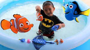 Inflatable Kids Pool Finding Dory And Nemo Swimming Toy Fish Kids Inflatable Pool Fun