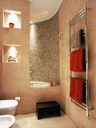 heated towel rack bathroom transitional with bisque bathroom wall