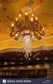 Buffet At The Wynn by A Chandelier At The Wynn Las Vegas Hotel And Casino Stock Photo