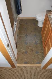 photos of cork flooring installed in a bathroom bend oregon