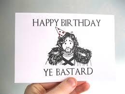 game of thrones birthday card funny rude birthday card
