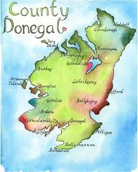 Blank Map Of Counties Of Ireland by Map Art Ireland Map County Donegal Ireland Fine Art