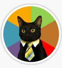 Business Cat Memes - business cat meme stickers redbubble