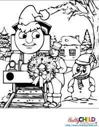 thomas tank engine snow man thomas train coloring pages