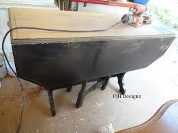 Antique Drop Leaf Table Pjh Designs Hand Painted Antique Furniture Restoring An Antique