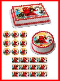ninjago cake toppers lego ninjago 3 edible birthday cake or cupcake topper edible