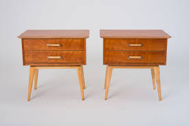 Cherry Wood Nightstands Pair Of Cherry Wood Nightstands By Renzo Rutili For Johnson