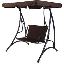 Cushioned Chairs 2 Person Patio Canopy Swing Chair Porch Swings Outdoor Living