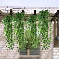 high quality artificial fake green hanging vine plant leaves