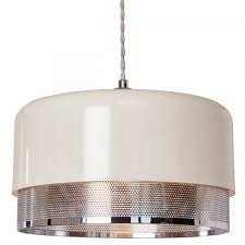 Ceiling Light Shade At Home Emilio Easy Fit Pendant Light Shade Large Chrome