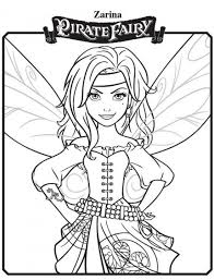 zarina tinkerbell pirate fairy coloring pages 550x722 picture