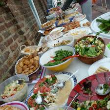 street party and three easy buffet dishes the graphic foodie