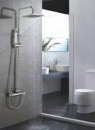 foxhunter bathroom mixer shower set twin head round square chrome