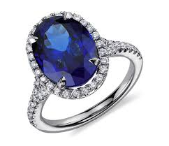 tanzanite blue rings images Oval tanzanite and cubic zirconia in 14k white gold plated over jpg