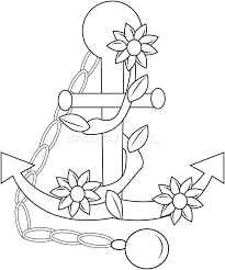 100 anchor coloring letter coloring pages